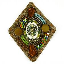 Patch Sewing bag diamond Decoration Inca Kuchi Afghan Banjara Tribal beads AF98