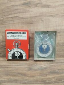 UNUSED VTG Swiss Stopwatch Compass Industries Sports Industry Research Science