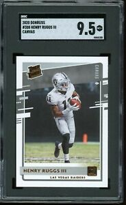 2020 Donruss Canvas #308 Henry Ruggs III RC Graded SGC 9.5 MINT+~ COMP TO PSA