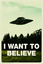 "02 I Want To Believe - X Files Art Movie Film 14""x21"" Poster"