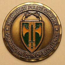 92D Military Police Company Commanders Coin Army Challenge Coin