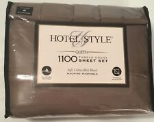 New Hotel Style Queen Sheet Set 1100 Thread Count & 4 Pillowcases Manatee Grey