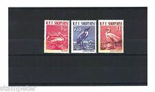 1961 Albania Birds SG 676/8 Top 2 values MUH