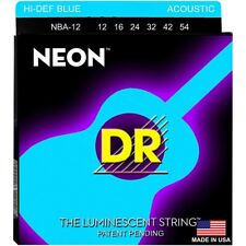 DR Acoustic Guitar Strings K3™ NEON™ Hi-Def© Blue Light 12-54 NBA-12