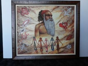 High Quality Aboriginal Inspired Oil Painting