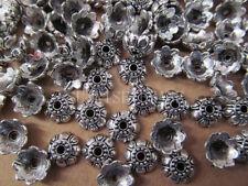 20PC Retro Tibet Silver Lotus Flower Bead Cap Wholesale 4*10mm PJ032