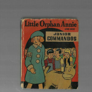 VINTAGE BETTER LITTLE BOOK LITTLE ORPHAN ANNIE & Junior Commando 1942 Whitman Co