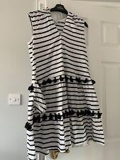 Next Size 12 Petite Black White Sun Dress