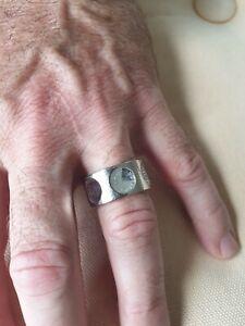 LOUIS VUITTON 18k Or Blanc  Diamants White Gold Diamond Ring Modele Empreinte 54