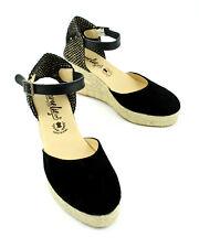 Plateau Leder Espadrilles Sandalette Keilabsatz  Avarca Spanish Leather Sandals