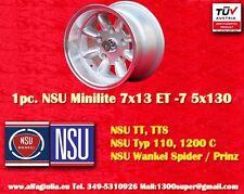 1 Wheel NSU TT TTS Minilite 7x13 ET-7 5x130 N.1 Wheel Felge Llanta Jante TUV