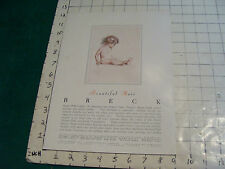 Original 1940's BRECK BEAUTIFUL HAIR  #3 single sided advertising info for store