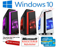 Gaming PC Quad Core i5 i7 Computer SSD HDD 8GB RAM GT 710 GFX Windows 10 WiFi