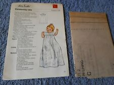 Vintage 1970s Silver Needles sewing pattern No: 58 Christening robe uncut
