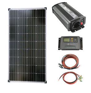 solartronics Photovoltaik Set 1x130 Watt Solarmodul 600 Watt Wandler Laderegler