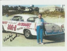 2018 Vicki Wood signed Mercury Outboards Chrysler 300 NASCAR Legend postcard