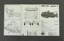ESCI 1/72 Scale German Tank jagdpanzer IV Kit 8012 - INSTRUCTIONS ONLY