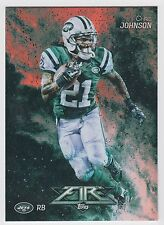 CHRIS JOHNSON 2014 Topps Fire Football Flame Foil Parallel Card #94 Jets