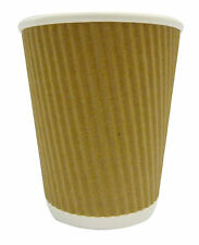 12oz ripple paper cups x 1000 + white lids x 1000!! vat included