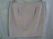 Vintage Requirements Gingham Plaid Career Skirt Size 12 Back Zip Fully Lined