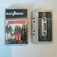 BLACK SABBATH SABOTAGE CASSETTE TAPE 1975 GREEN PAPER LABEL NEMS UK