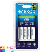 PANASONIC ENELOOP ADVANCED CHARGER BQ-CC17 + 4 RECHARGEABLE AA BATTERIES 2000mAh