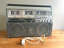 Sharp GF-525E Double Cassette Boombox Ghetto Blaster Portable Stereo Radio Tape