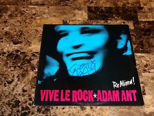 "Adam Ant Rare Signed 12"" Vinyl EP Record Vive Le Rock Re-Mixed 1985 Authentic"