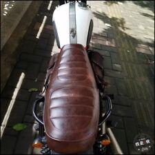 Braun 64cm Motorrad Bench Seat Sitz Sitzbank Siège Selle banq für Cafe Racer