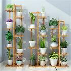 Wooden Corner Plant Stand Multiple Ladder Flower Shelf Rack In/Outdoor Garden