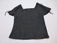 Virgo Shirt Womens Size 8 Black Polka Dot Shirt Great Condition