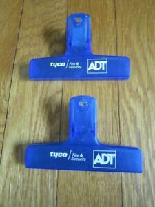 Tyco Fire & Security ADT advertising Plastic Bag Clips Collectible FREE SHIP