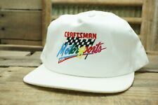 Vintage CRAFTSMAN MOTORSPORTS USA Snapback Trucker Cap Hat Made In USA