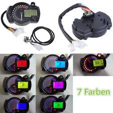 15000RPM 7 Farben Digital Tachometer Kilometerzähler Drehzahlmesser Motorrad ATV