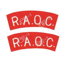 R.A.O.C. Schulter Titel WW2 Reproduktion Royal Army Artillerie Corps Flicken
