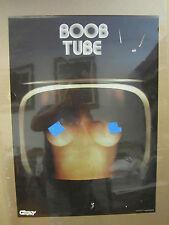 Boob Tube  Hot girl man cave car garage Vintage Poster 1979 2007