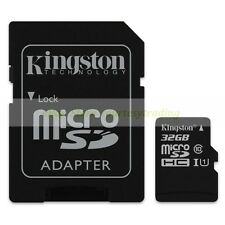 Kingston Micro SD HC 32GB 32G Class 10 C10 U1 UHS1 Memory Card with Adapter