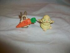 Hallmark Merry Miniature 1992 Easter Bunny With Carrot Chick Figurine
