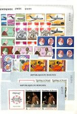 [OP1758] Burundi lot of stamps on 11 pages