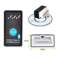 New Mini ELM327 V1.5 OBD2 II Bluetooth Diagnostic Car Auto Interface Scanner