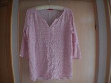 Damen Bluse gebraucht von s.Oliver rosa-rot-weiß Größe 40
