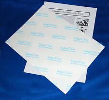 10 sheets Inkjet CLEAR Waterslide Transfer Decal Paper