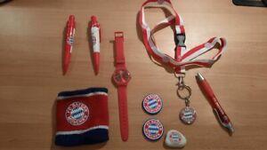 FC Bayern München FCB Fanset Uhr Schweißband Kugelschreiber Medaille etc.
