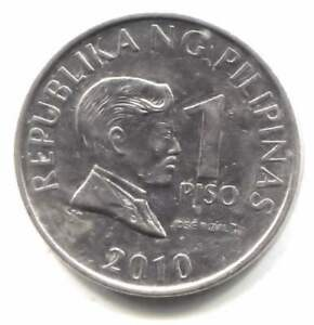 2010 Philippines 1 Piso Coin - Republica ng Pilipinas - One Piso