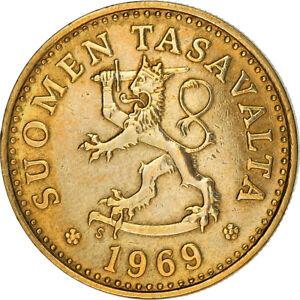 [#383666] Monnaie, Finlande, 10 Pennia, 1969, TB+, Aluminum-Bronze, KM:46