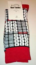 CALCULATOR KEYPAD SOCKS Ladies Mens ANKLE HIGH Black Red Grey NUMBERS SIGN WOVEN