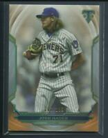 Josh Hader 2019 Topps Triple Threads AMBER Parallel #'d / 199 Milwaukee Brewers
