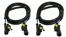 2 pc Xenon HID Extension Wires 24 inch extent HID ballasts Ducati 1198 848 GSXR