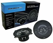 "SUB ZERO 165W 5.25"" COAXIAL 13CM 2 WAY CAR DOOR SHELF SPEAKER SPEAKERS WIRING"