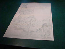 """Original Index to Topographic Mapping in IDAHO nov 1955 aprox 22 x 33"""""""